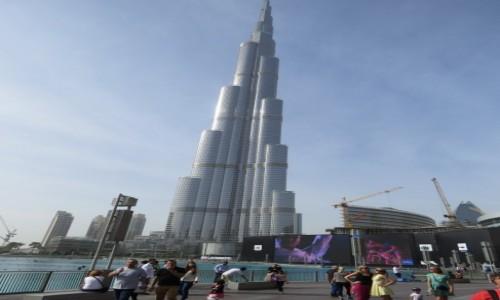 Zdjecie ZJEDNOCZONE EMIRATY ARABSKIE / Dubaj / Dubaj / Najwyższy budynek świata Burj Kalifa 828m