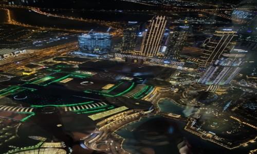 ZJEDNOCZONE EMIRATY ARABSKIE / Dubaj  / Dubaj  / Widok nocny z piętra Burj Khalifa