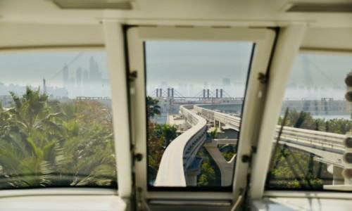 Zdjecie ZJEDNOCZONE EMIRATY ARABSKIE / - / Dubaj  / Widok z okna kolejki Dubaj